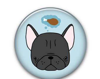 """Frenchie 1.25"""" Button"""