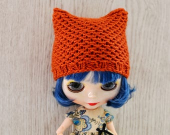 Dolls Cat Hat, Dolls Hat, Dolls Beanie Hat, Hat For Blythe
