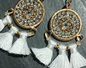 Carnival Earrings in White