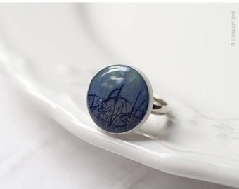 Misty Nature Ring - Navy blue Ring (R019)