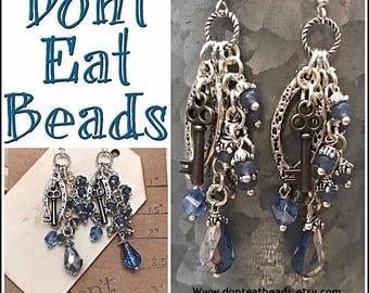 Blue Key earrings #17july806