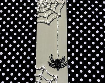 Spider and Web Halloween String Art Piece - Free Shipping