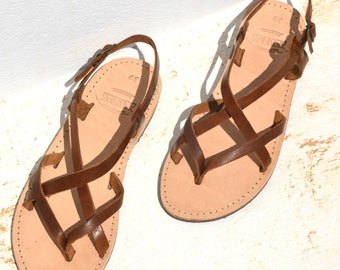 Handmade Roman Grecian leather sandals-NEW COLOR