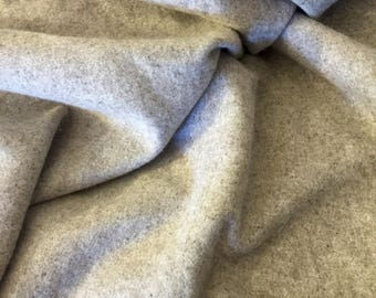 Natural beige oatmeal colored wool cashmere blend fabric yardage 60 inches wide