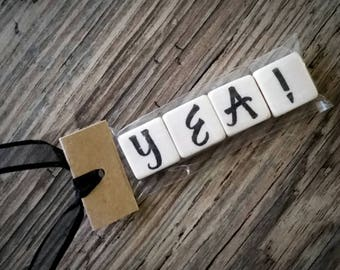 YEA! Tumbled Stone miniMagnet Word Strip