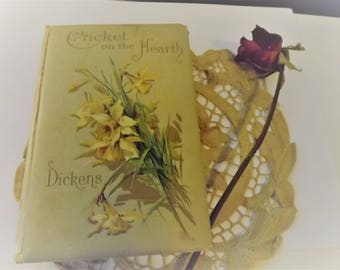 The Cricket on the Hearth by Charles Dickens vintage book early 1900s