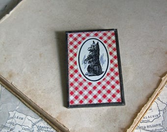Scotty Dog Vintage Playing Card Recycled Pin  Sale