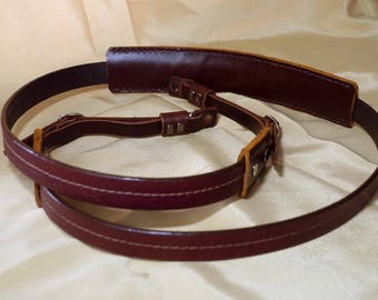 Personalize Leather Camera Strap Custom Leather Camera Strap Artisan Leather camera Strap Classic Leather Strap in Red Brown Color