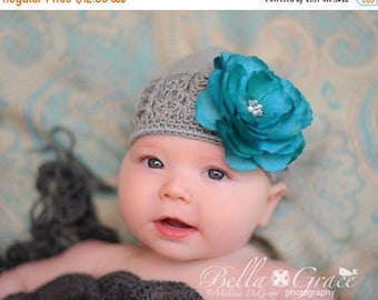 SUMMER SALE Infant Beanie - Baby Beanie - Baby Hat - Infant Hat - Photography Prop - Girls Knit Hat - Photo Prop