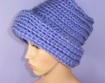 40% OFF SALE Instant Digital File pdf download knitting pattern - Super Chunky Flower Pot Hat pdf knitting pattern