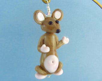 Mouse Waving - Lampwork Glass Bead Creation - SRA