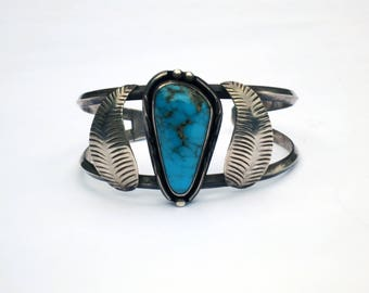 BIG CHUNKY TURQUOISE // genuine native american turquoise cuff