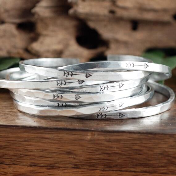 Arrow Cuff Bracelet, Bridesmaid Cuff Bracelet, Skinny Cuff, Bridemaid Gift, Will you be my Bridesmaid, Bridesmaid Proposal Gift,