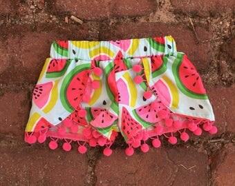 Watermelon shorts + girl shorts