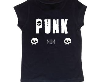 Punk Mum Black Ladies T-shirt, Rockabilly, Goth, Alternative, Tattoo