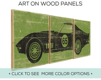Our Classic Car Wall Art is Customizable and Perfect for Race Car Bedroom Decor - Car Design #4