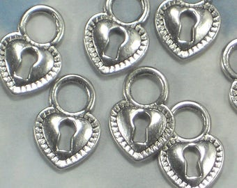 ReSERVE For Elaine - 50 Heart Locks Bronze Tone Lovely on Cards Announcements Invitations