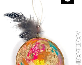 Christmas Ornament 2017 - #6 - christmas gift, handpainted ornament, holiday decoration, handmade ornament, colorful ornament