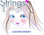 Custom Order for BarbaraLee Combed Suri Alpaca Doll Hair 0.7 of an ounce