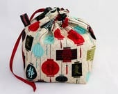 Mini Project Bag - Chinese Lanterns