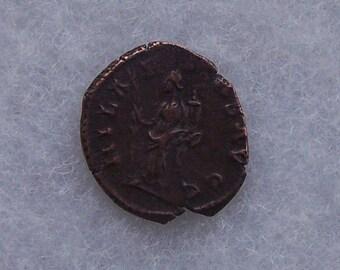 Authentic Roman Coin of The Roman Emperor Tetricus With the Goddess Hilaritas Reverse