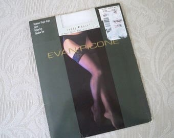 Vintage Clothing Hosiery Evan-Picone Nylons NOS Size 3 Large White Thigh High