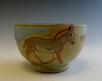 Wee Little Salsa Bowl with Donkeys in Desert 2