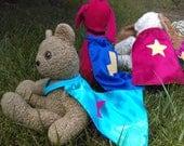 Teddy Bear Baby Doll Superhero Cape
