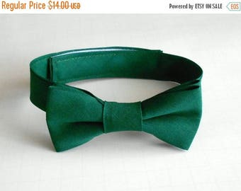 SALE Hunter Green Bowtie - Infant, Toddler, Boy - Emerald, Forest-                 2 weeks before shipping