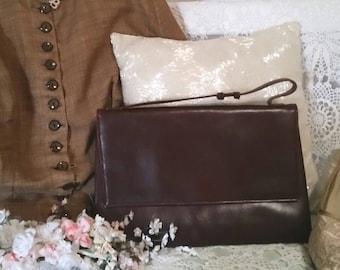 INCREDIBLE 50s handbag, vintage 50s bag, bombazine interior, pocket and purse inside, brown 50s bag, vintage bags