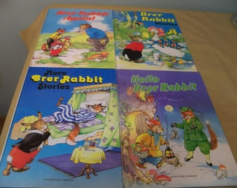 4 large  Brer RABBIT  hard cover  books  from the eighties