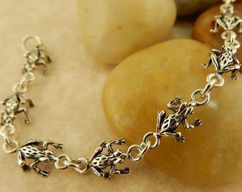 Vintage Sterling silver Frog Bracelet
