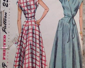Vintage Simplicity 2842 Misses' Wrap Dress or House Dress - size 14