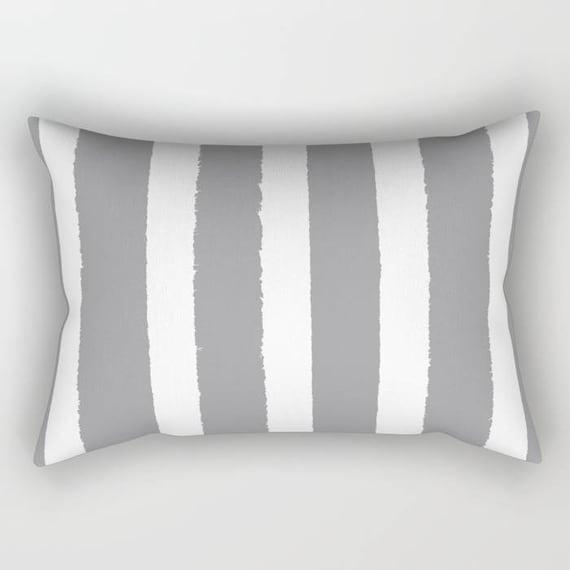 Grey Lumbar Pillow . Gray lumbar pillow . Grey Toddler Pillow . Striped Pillow . Grey Pillow . Modern Cushion . Gray Travel Pillow 14 x 20