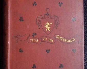 Tess of the D'Urbervilles, Scarce 3rd American Edition, Harper & Brothers, Thomas Hardy, Red Clothbound Antique, 1893 Edition