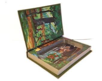 Hollow Book Safe Robin Hood book safe compartment Kids Room Decor Secret compartment Hiding Place Travel Cash Stash