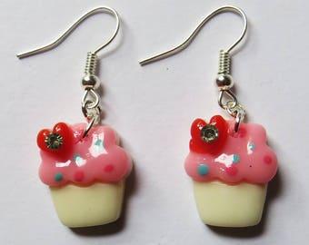 Sparkling crystal cupcakes earrings