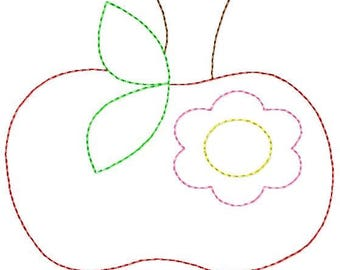 Vintage Apple Flower Machine Embroidery Design