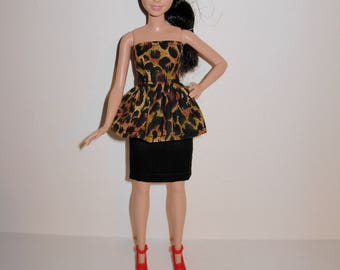 Handmade barbie clothes. Cute outfit for new barbie petite doll
