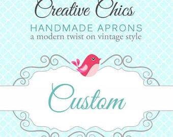Custom Listing for TyBug45 - Flirty Chic with Brown and Teal White Polka Dot Skirts