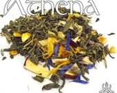 Athena Devotional Tea - loose leaf green tea, lemon lavender, Hellenic pagan, Minerva, Greek mythology, Roman mythology, Goddess of wisdom