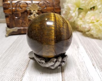Tiger Eye Gemstone Sphere - Stone for Protection