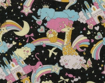 Kokka Japanese Textiles - DOUBLE GAUZE Candy Circus in Black