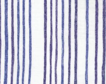 Nani Iro Japanese Textiles - DOUBLE GAUZE Saaaa Saaa in Blue