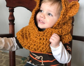 Teddy Bear Hooded Cowl: Made to Order