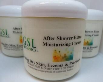 After Shower Extra Moisturizing Cream - Dry Skin, Eczema. Psoriasis