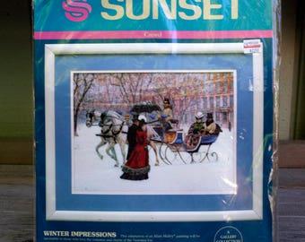 Sunset Crewel Kit Winter Impressions