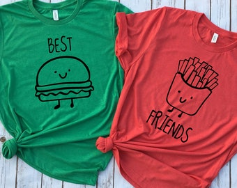 Best Friend Tees -Hamburger and Fries Best Friend Set