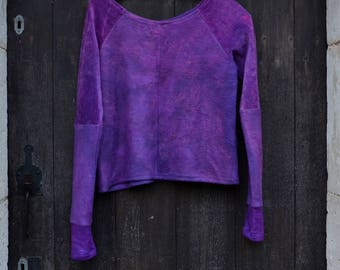 Boho jumper deep pink purple sweater minimalist style grunge earthy arcane gaia goddess dark fashion witch hippies pagan clothes womens tops