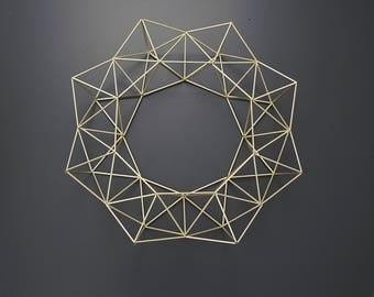 BRUMA - Modern Geometric Wreath - Himmeli